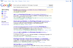 How To Get Your Website on The First Page of Google